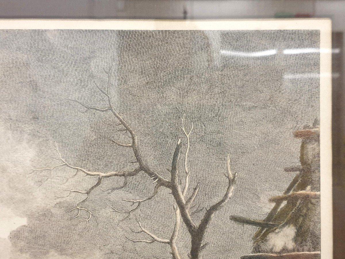 Gravure Couleurs XVIIIe Philips Wouwerman 58 X 66 Cm-photo-5