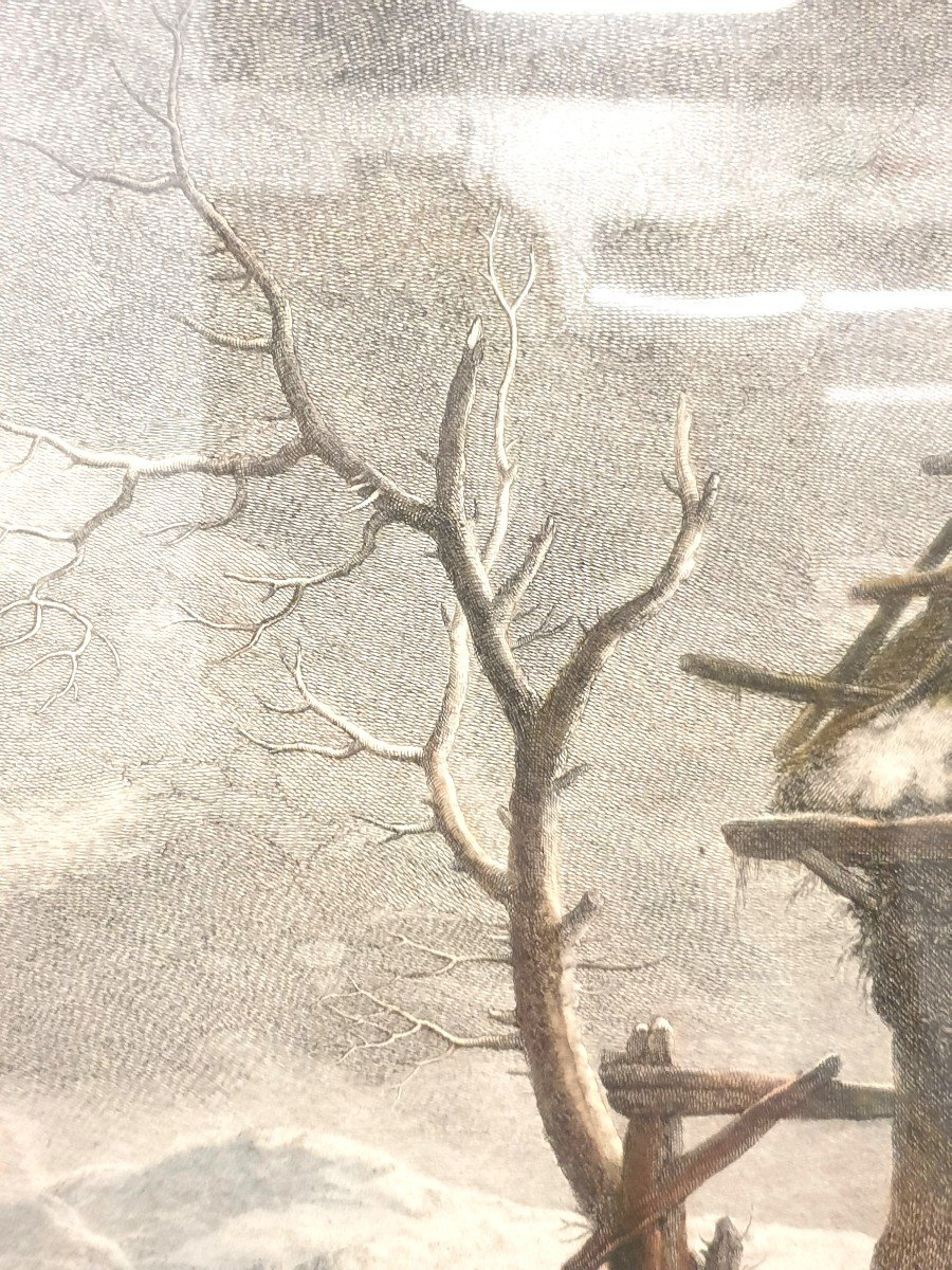 Gravure Couleurs XVIIIe Philips Wouwerman 58 X 66 Cm-photo-7