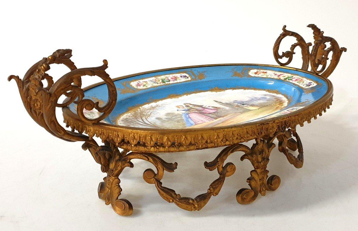 Coupe En Porcelaine Sevres Bronze -photo-1
