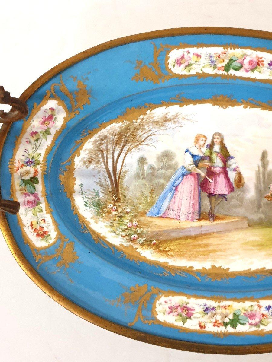 Coupe En Porcelaine Sevres Bronze -photo-2