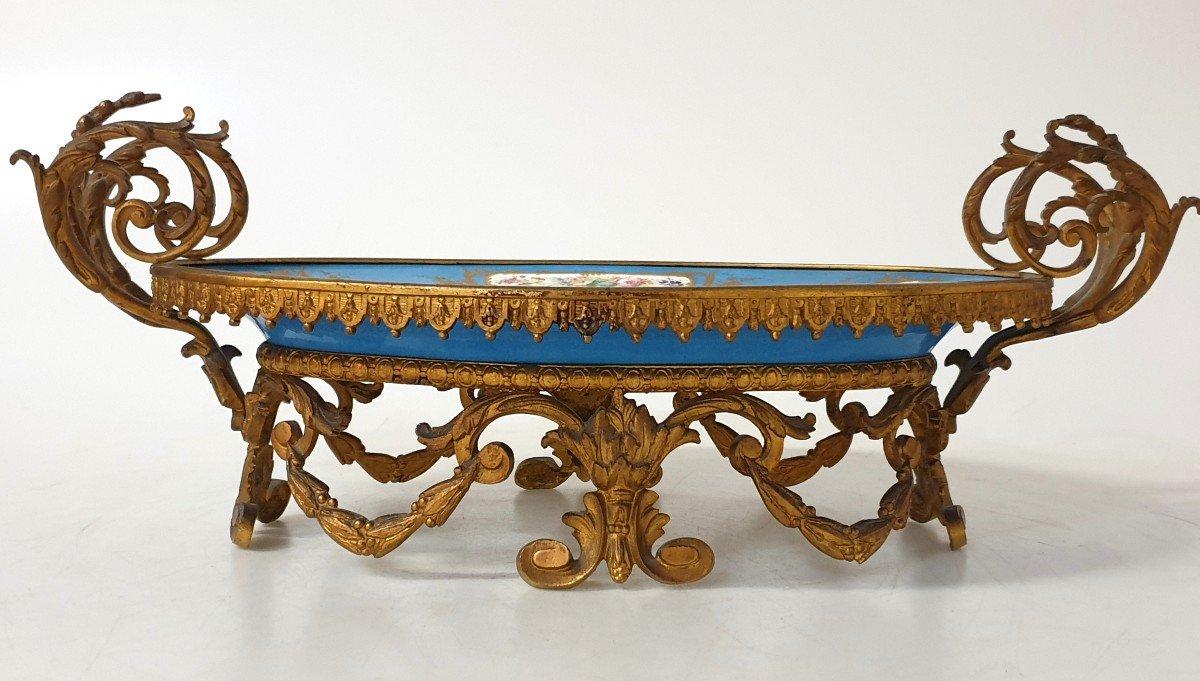 Coupe En Porcelaine Sevres Bronze -photo-3