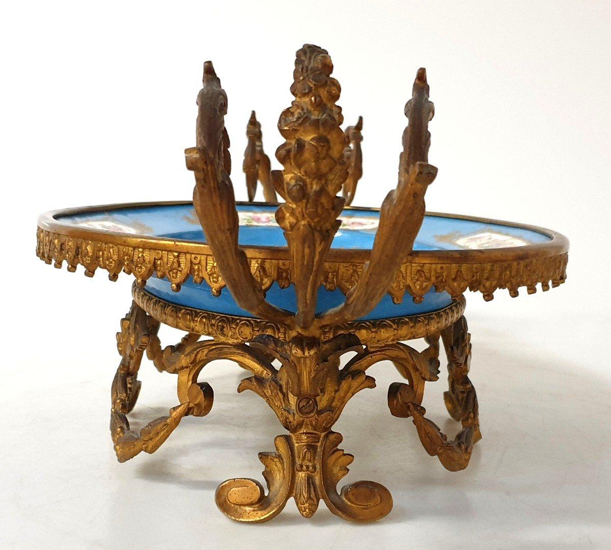 Coupe En Porcelaine Sevres Bronze -photo-4