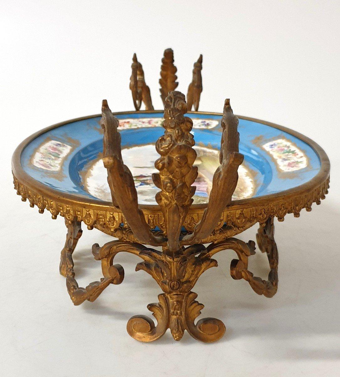 Coupe En Porcelaine Sevres Bronze -photo-5