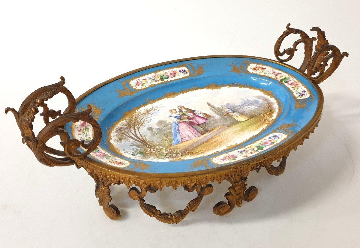 Coupe En Porcelaine Sevres Bronze -photo-6