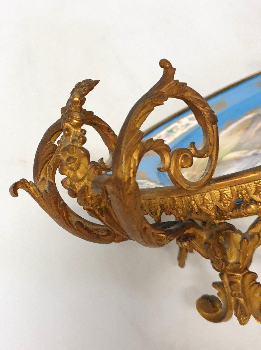 Coupe En Porcelaine Sevres Bronze -photo-8