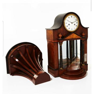 Empire Clock With Console Marquetry