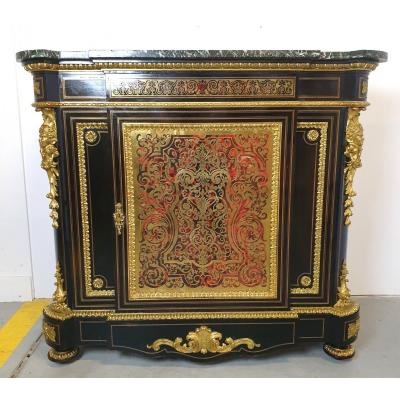 Meuble d'Appui Boulle Marqueterie Signee Wassmus