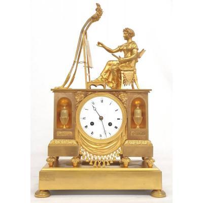 Empire Clock Music Allegory 19th Century