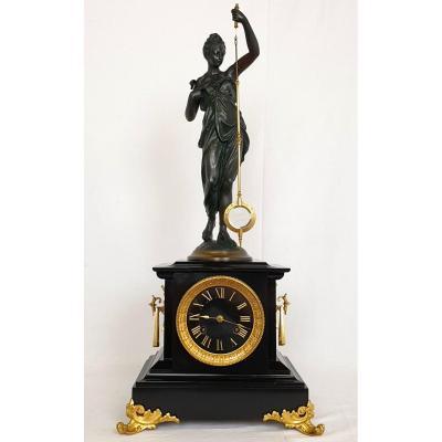 Mysterious Clock 19th Century 70 Cm