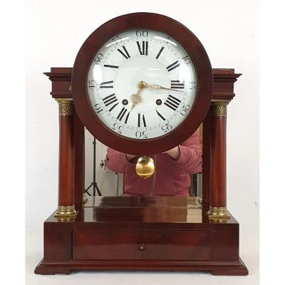 Biedermeier Pendulum In Mahogany Repetition Carre