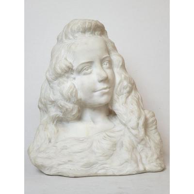 Bustes En Marbre A. De Cuyper Art Nouveau 1916
