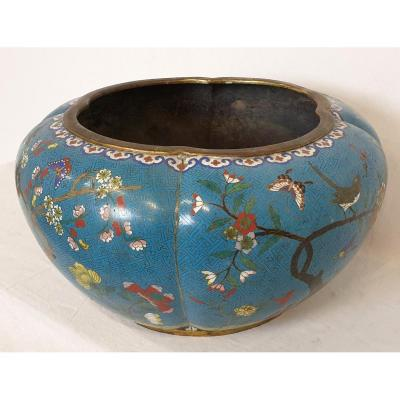 Gardener Cloisonne Enamel China Brown 19th Century