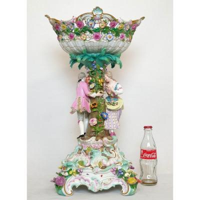 Meissen Porcelain Table Center Model 2772 Ea Leuteritz
