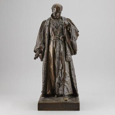 Figure En Bronze Jean-françois Legendre-héral 1843 'antoine-laurent De Jussieu'