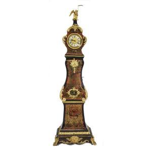 Boulle Napoleon III Marquetry Floor Regulator 240 Cm