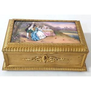 Boîte à Bijoux émail Bronze