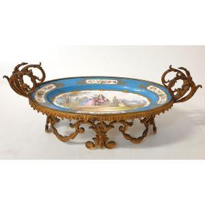 Coupe En Porcelaine Sevres Bronze