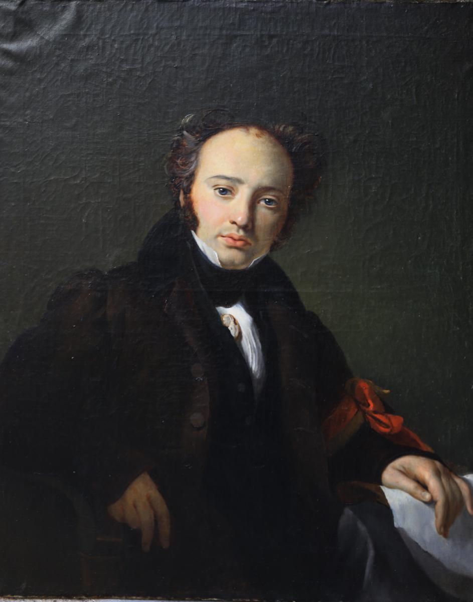 Portrait Du Geologue Auguste Engelspach Dit Larivière 1833