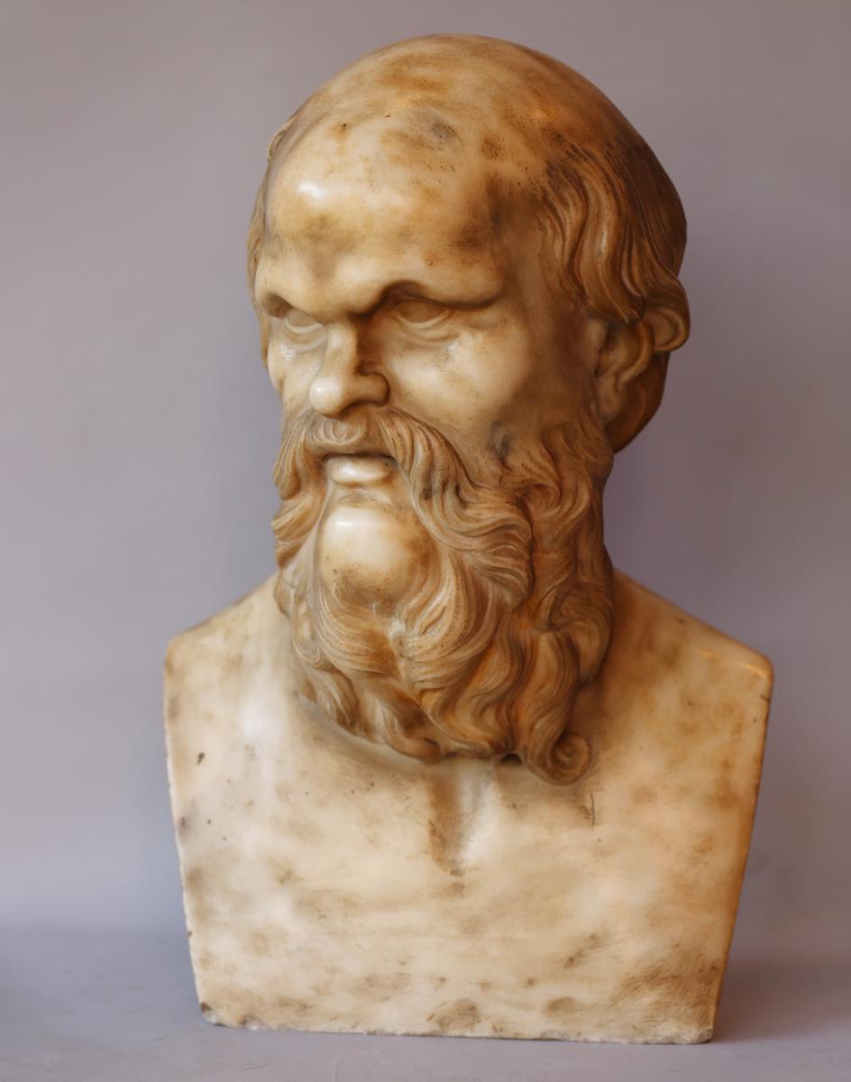 "Italian School Of XVIII ""bust From Philosopher"""