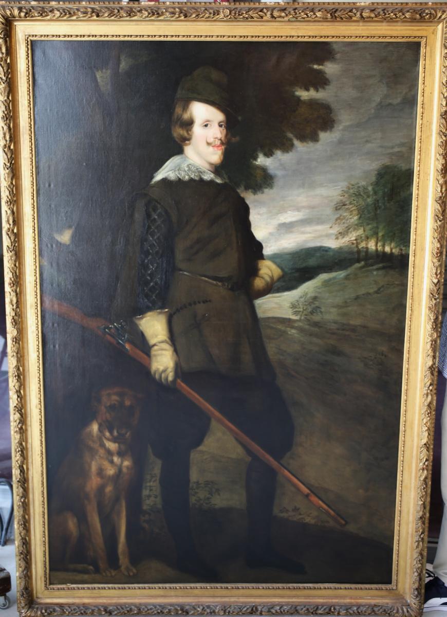 Portrait Of Felipe IV In Hunting Costume, Copy Nineteenth