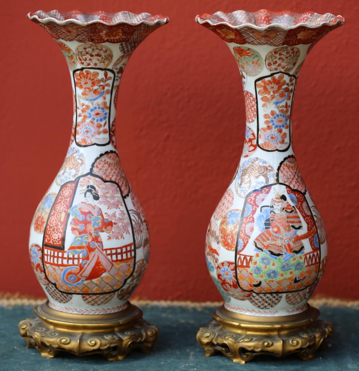 Paire De Vases Japon Période Meiji