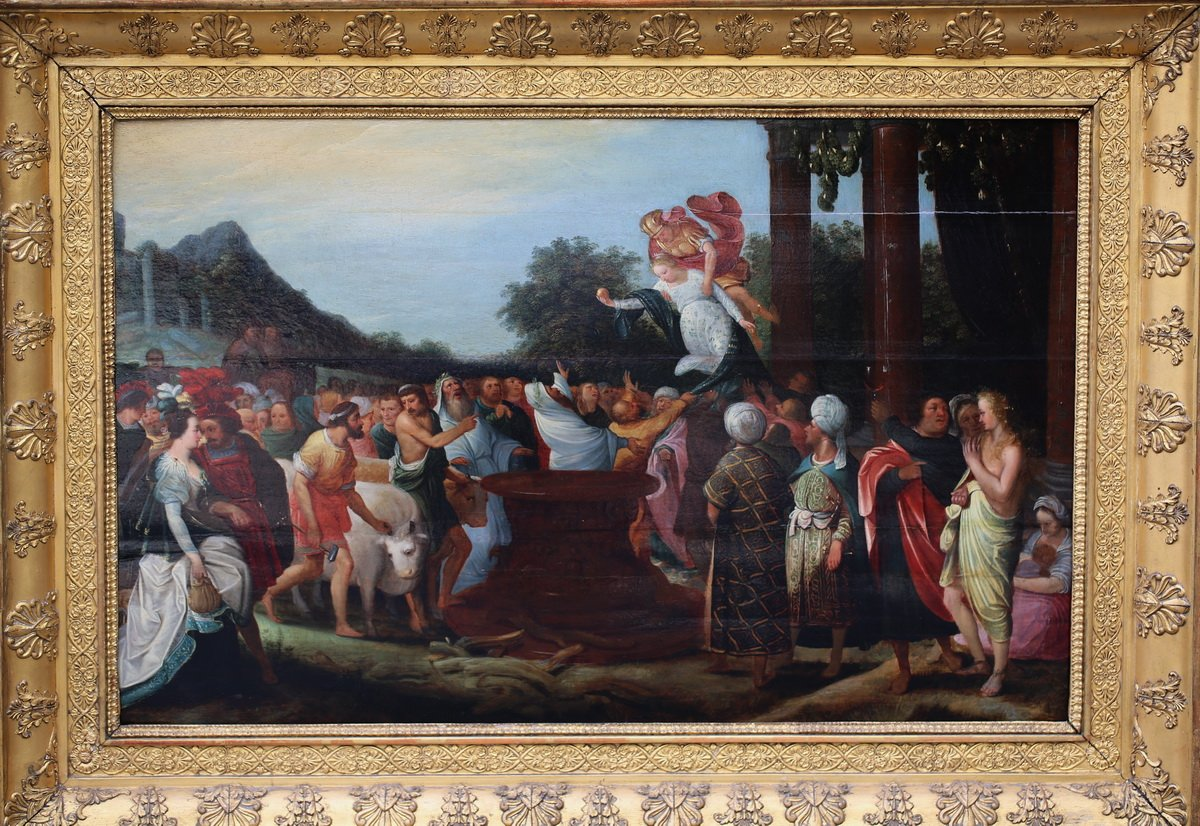 """the Sacrifice  To Demeter"" Pieter Van Lisaert Iv, Attributed To"