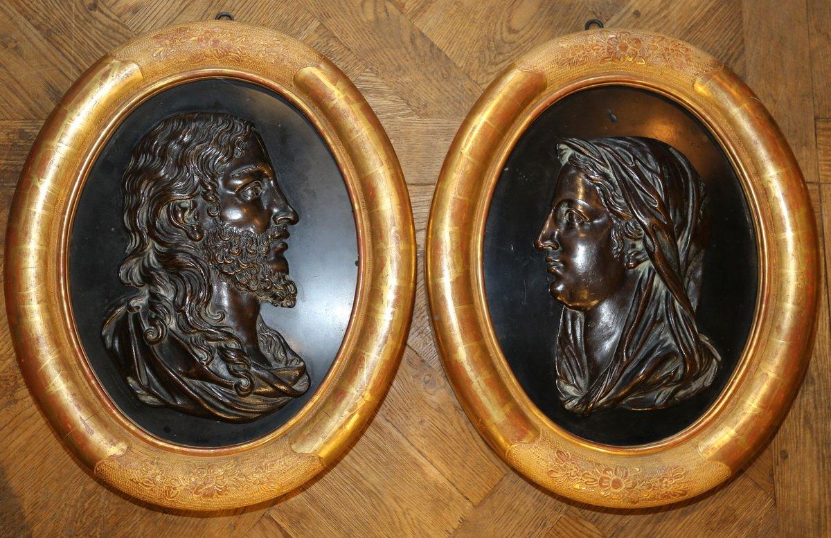 François Girardon 1628-1715, d'Après, Le Christ Et La Vierge.