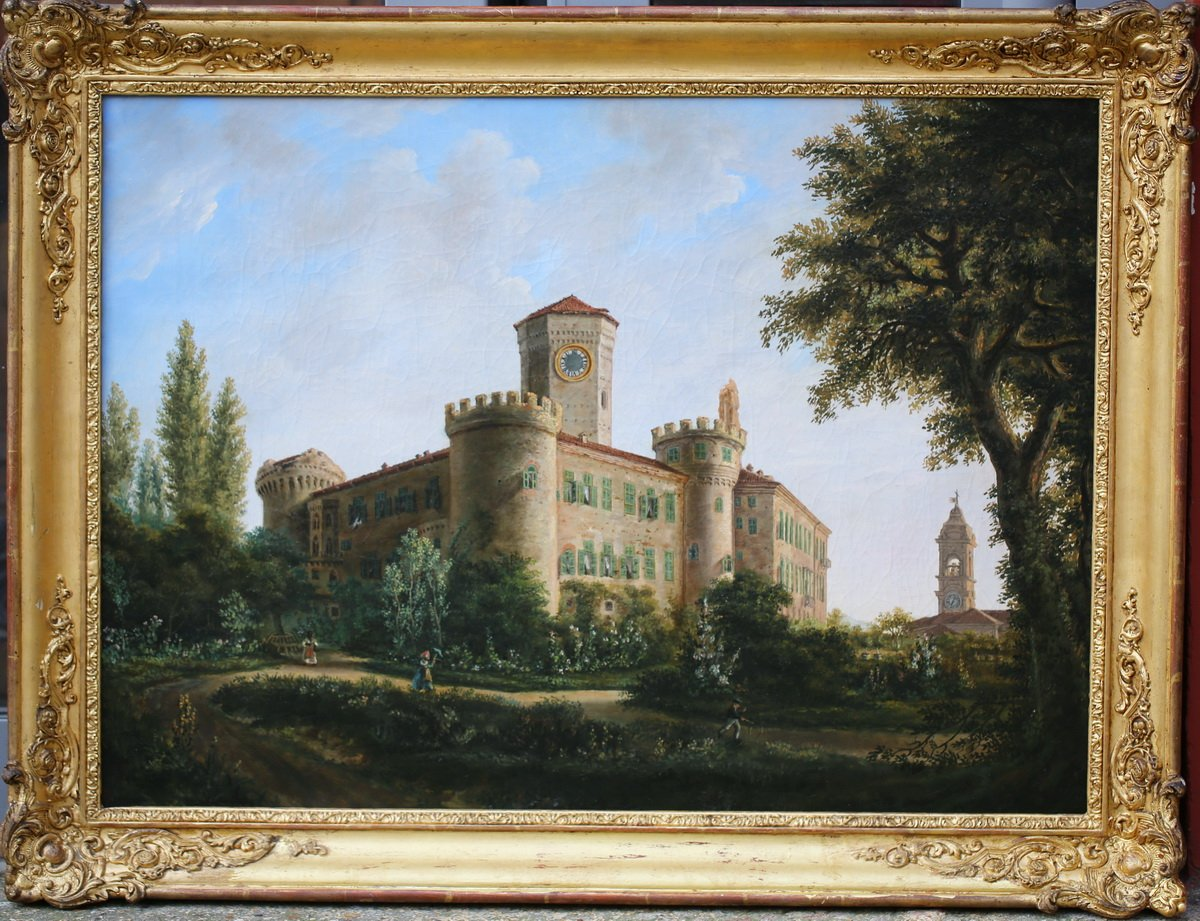 Ecole Française Du XIXème, Vue De Château.