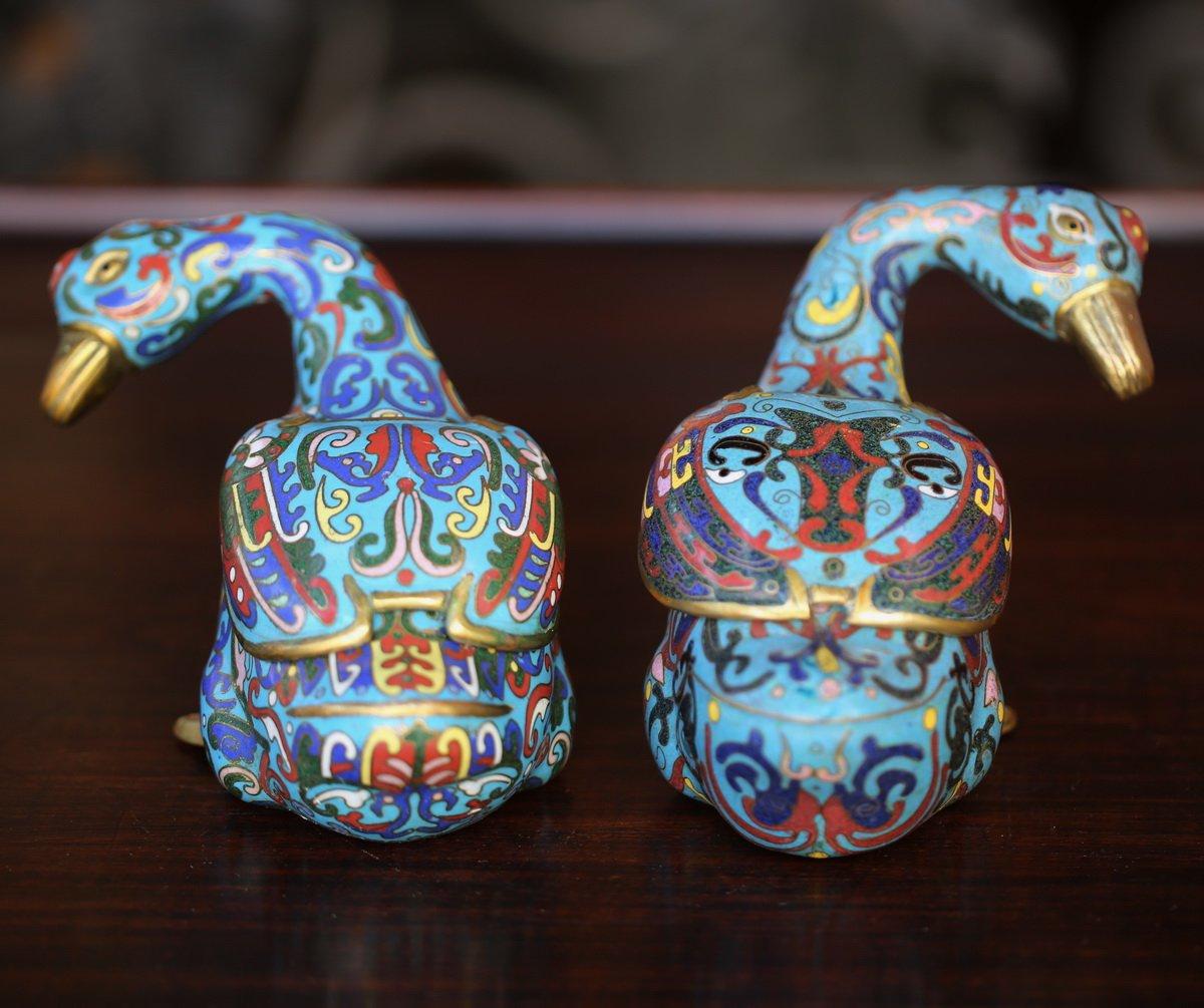 Paire De Brule-parfums Canards Chine XIXème