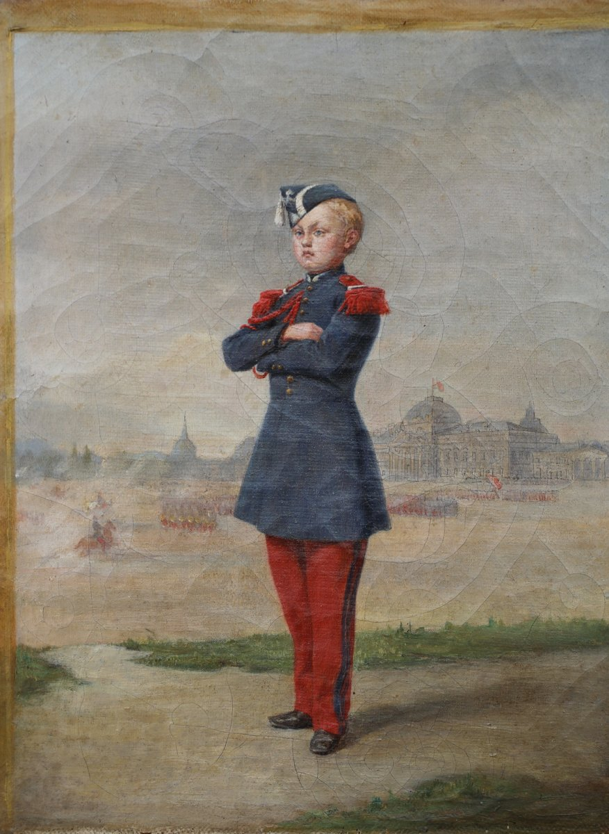 French School Around 1850, Young Military.
