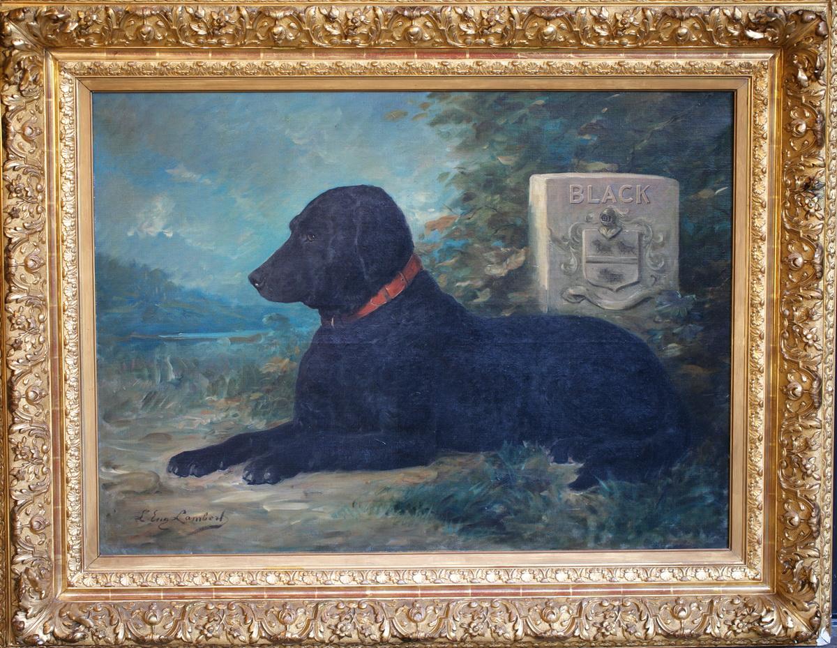"""Eugène Lambert 1825-1900  """"portrait Du Chien Black"""""""