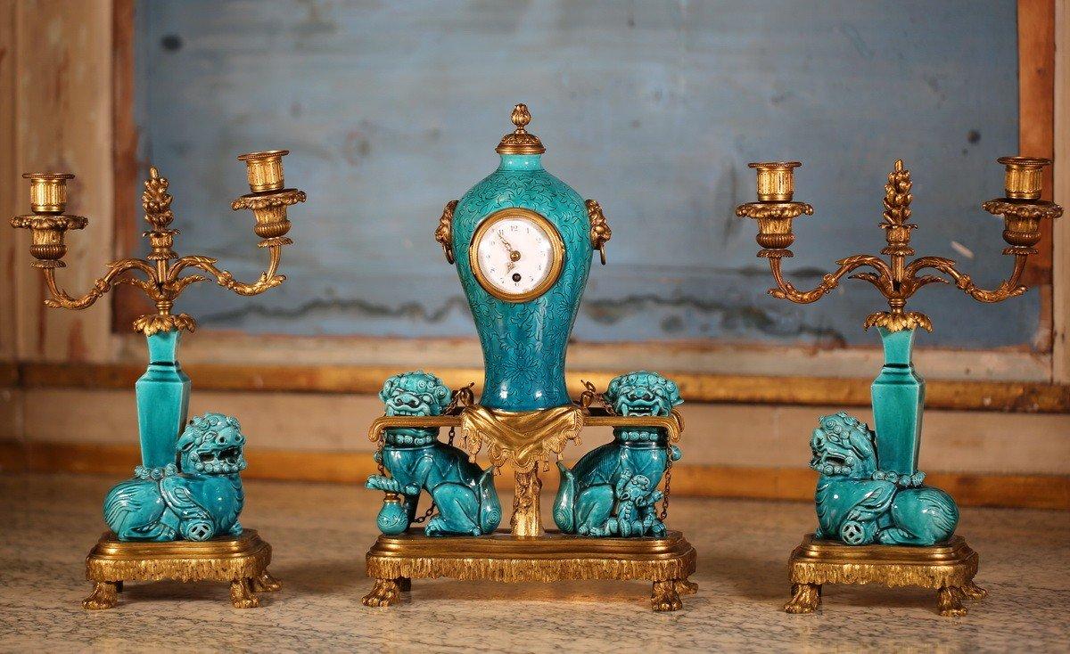 Garniture 3 Pièces Escalier De Cristal Circa 1880