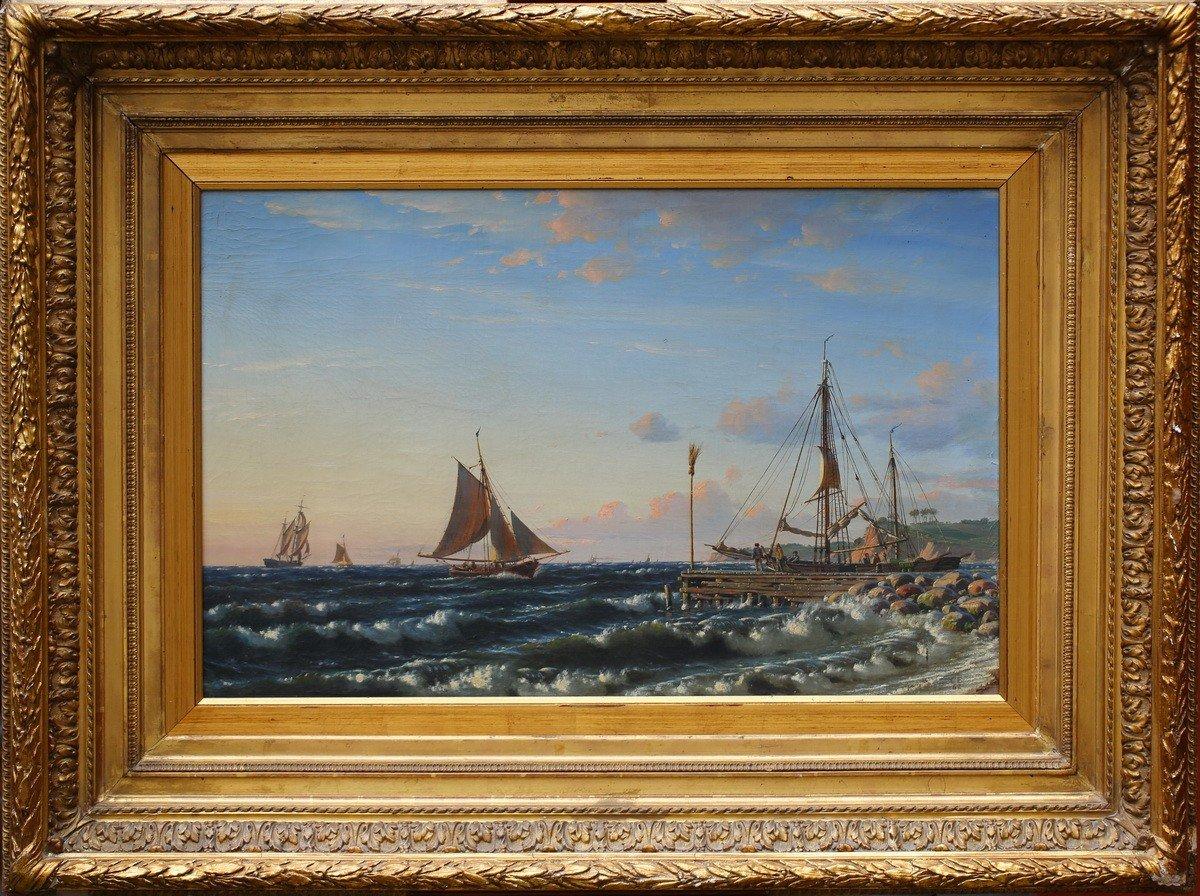 Christian Eckardt 1816-1888, Marine Landscape.