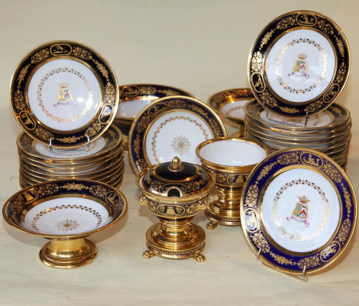 Dessert Service Porcelain Paris Circa 1830