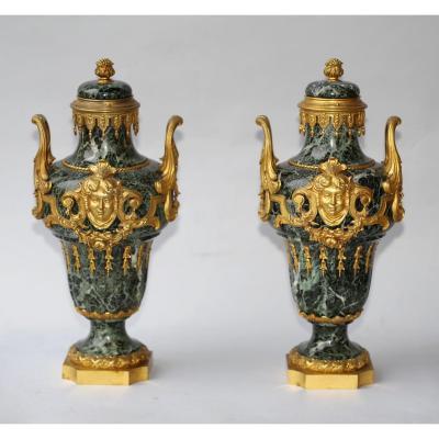 Pair Of Vases Cutlery Regency Style Circa 1880