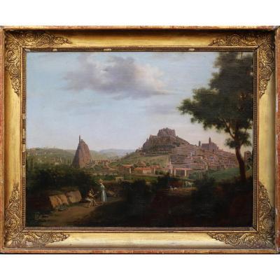 """Ecole Française """"le Puy En Velay"""" Circa 1810"""