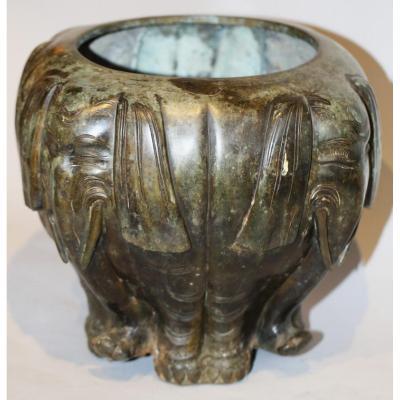 Cache Pot Bronze Japon XIXe