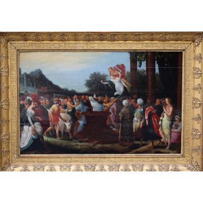 """""""Le Sacrifice à Démeter"""" Pieter Van Lisaert IV, attribué à"""