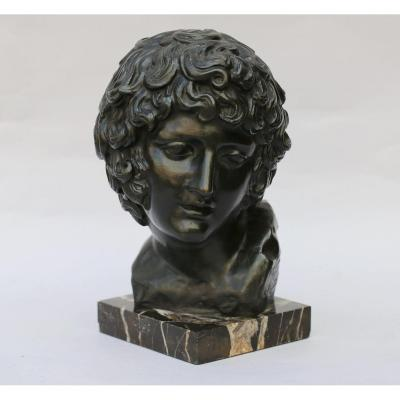 Antoine Denis Chaudet (1768-1810) After, Bust Of Young Man.