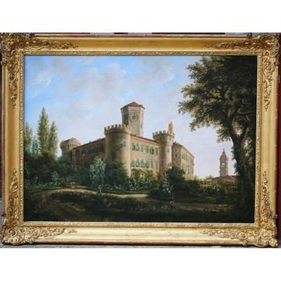 Nineteenth French School, View Of Castle.