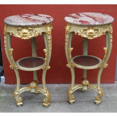 Paire De Selettes Style Louis XV Circa 1860