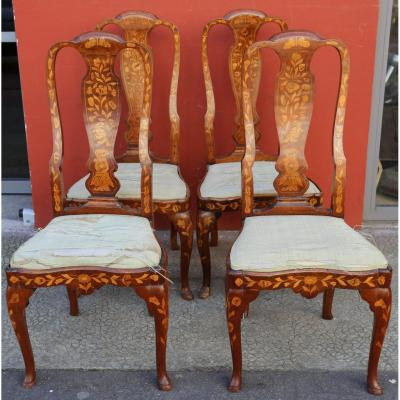 Series Of Four Chairs, Holland Early XIXth.
