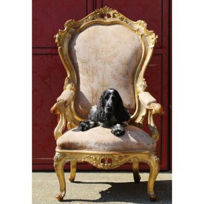 Throne Armchair, Venice Circa 1850