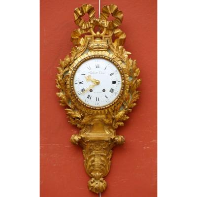 Cartel In Golden Wood Louis XVI Style Nineteenth Time