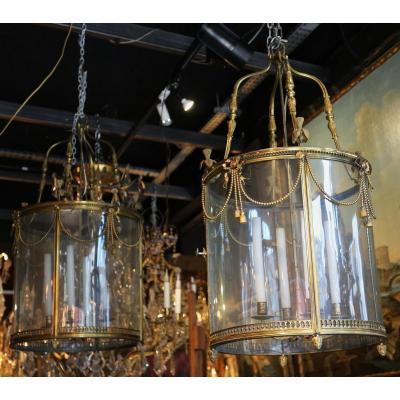 Paire De Lanternes De Style Louis XVI, Début XXème