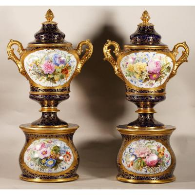 Pair Of Paris Covered Vases