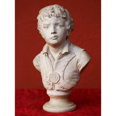 Jean-nicolas Alexandre Brachard 1766-1846 Portrait En Buste De Joseph Viala.
