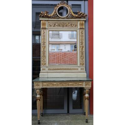 Console Et Son Miroir, Toscane Fin XVIIIème