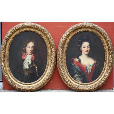 Jakob Ferdinand Voet 1639-1689 Attribué à, Amadeus II De Savoie Et Une Favorite.