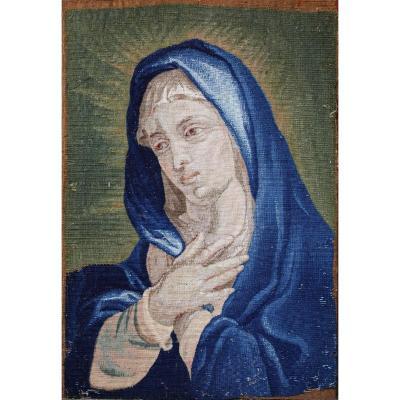 Tapisserie Russie XVIII, Vierge En Prière.